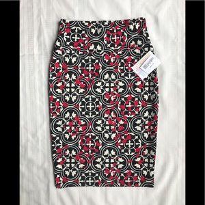 NEW LuLaRoe Cassie Pencil Skirt XS Black White Red